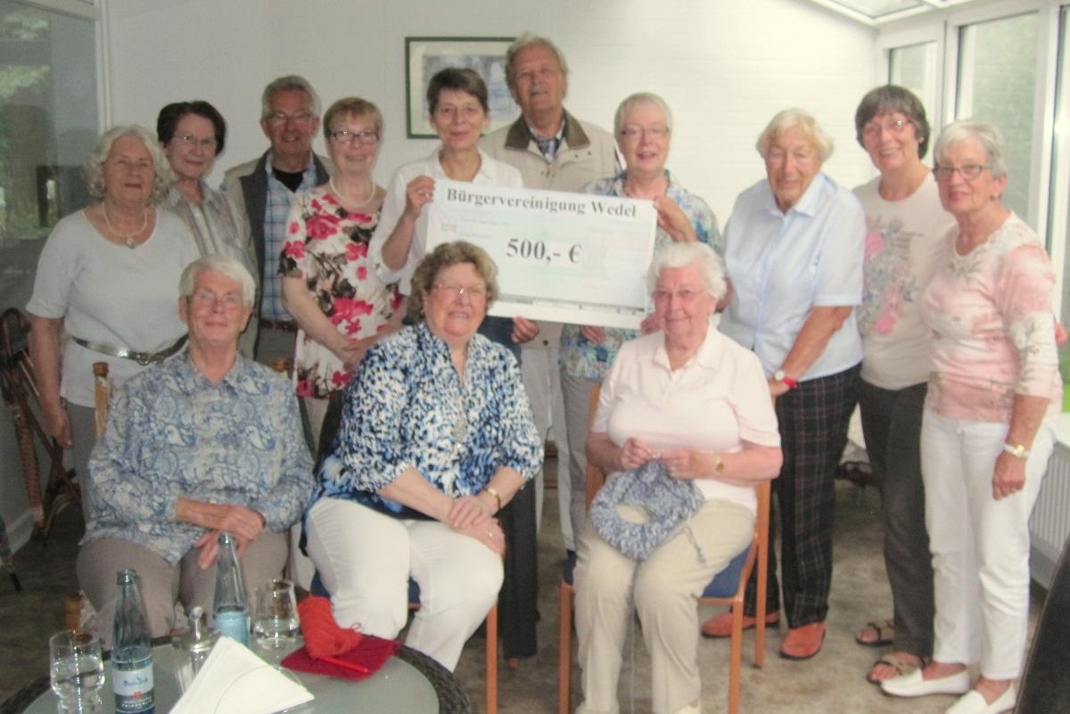 Spende für die Begegnungsstätte der AWO in Wedel