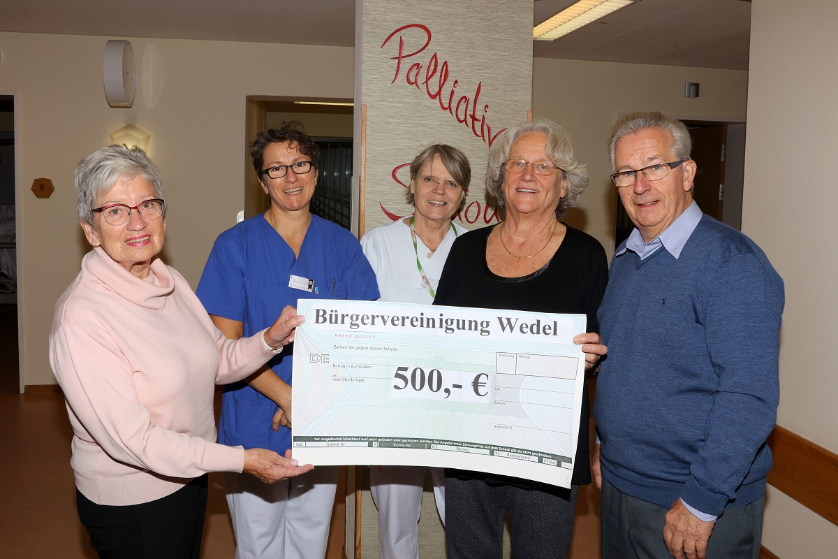 Spende für den Förderverein der Palliativstation Rissen